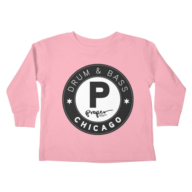 Proper logo Kids Toddler Longsleeve T-Shirt by Properchicago's Shop