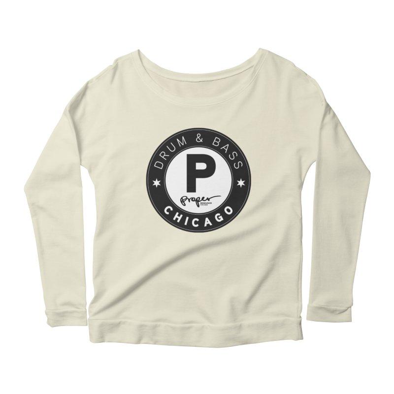 Proper logo Women's Scoop Neck Longsleeve T-Shirt by Properchicago's Shop