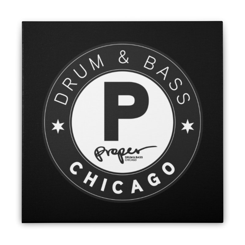 Proper logo Home Stretched Canvas by Properchicago's Shop