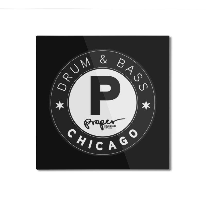 Proper logo Home Mounted Aluminum Print by Properchicago's Shop