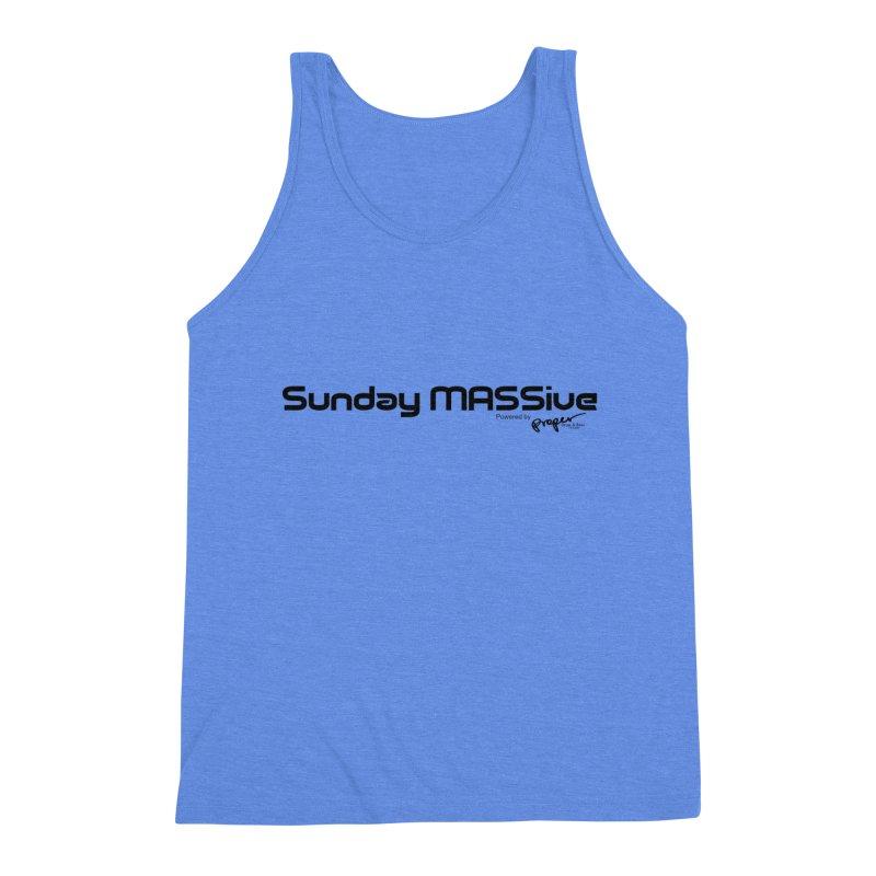 Sunday MASSive Men's Triblend Tank by Properchicago's Shop