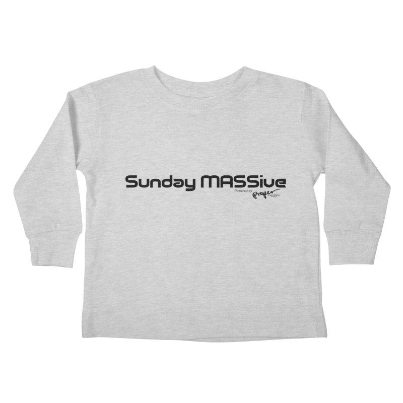 Sunday MASSive Kids Toddler Longsleeve T-Shirt by Properchicago's Shop