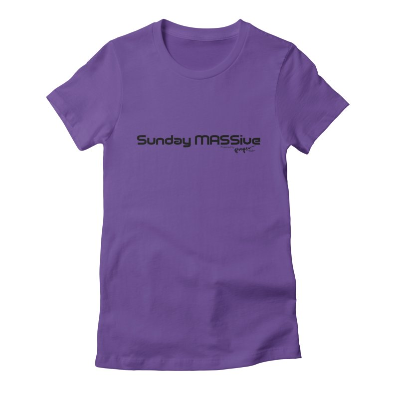 Sunday MASSive Women's Fitted T-Shirt by Properchicago's Shop