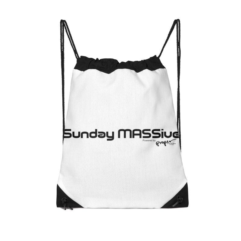 Sunday MASSive Accessories Drawstring Bag Bag by Properchicago's Shop