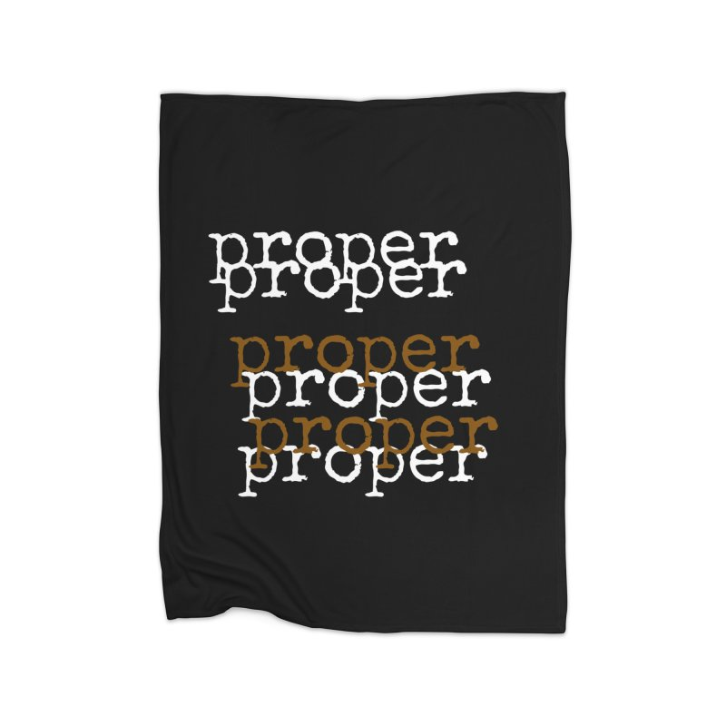 Proper Cheap Trick Home Fleece Blanket Blanket by Properchicago's Shop