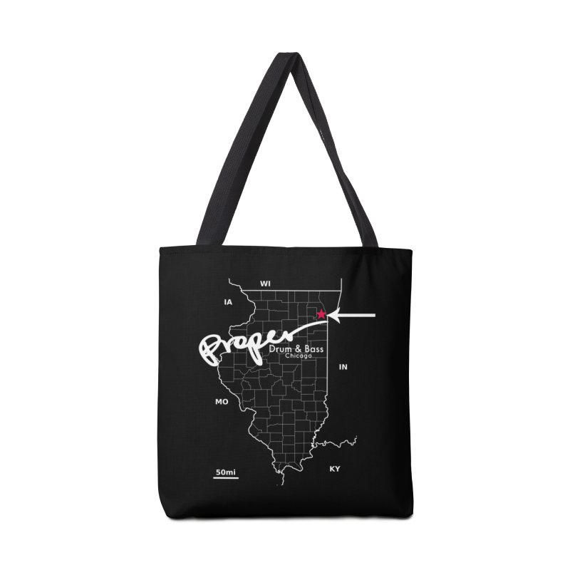 Illinois WHT Accessories Tote Bag Bag by Properchicago's Shop