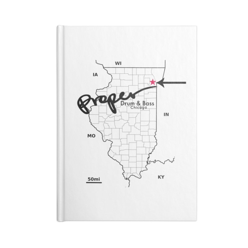 Illinois BLK Accessories Notebook by Properchicago's Shop