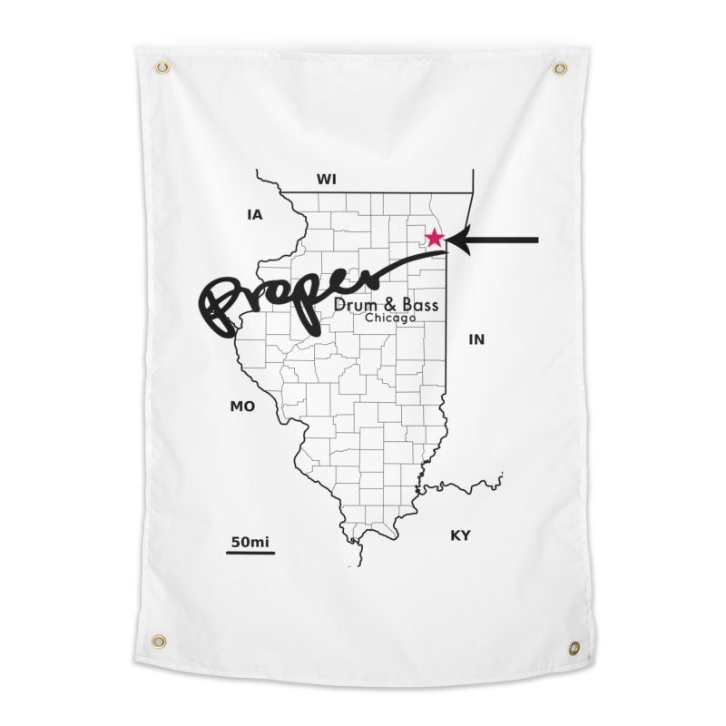 Illinois BLK Home Tapestry by Properchicago's Shop