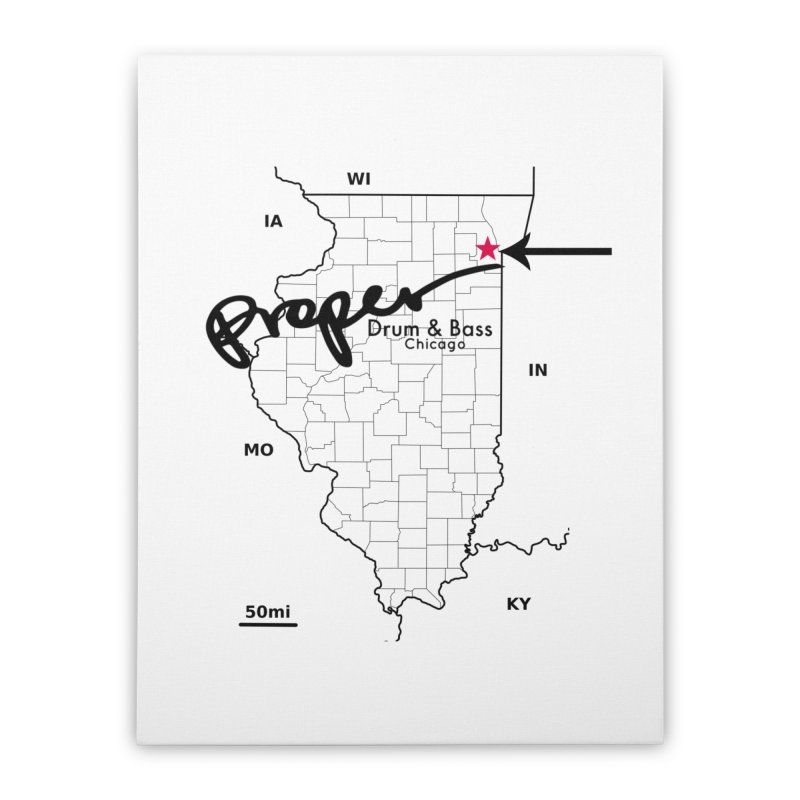 Illinois BLK Home Stretched Canvas by Properchicago's Shop