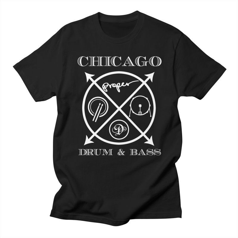 cHICAGO in Men's T-Shirt Black by Properchicago's Shop