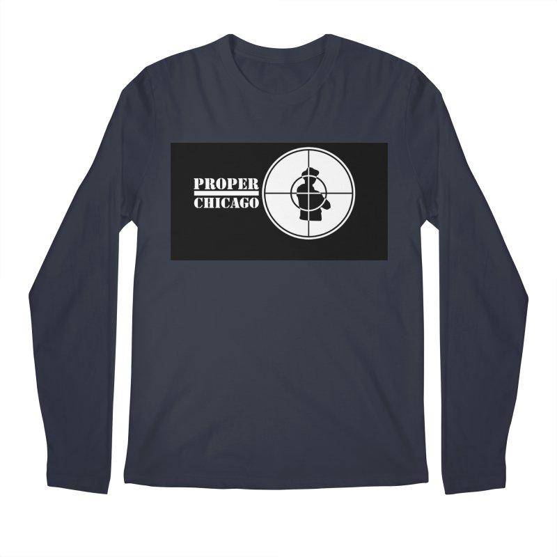 Proper Public Men's Regular Longsleeve T-Shirt by Properchicago's Shop