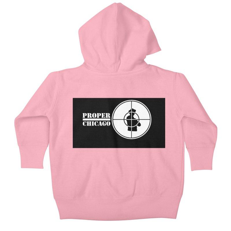 Proper Public Kids Baby Zip-Up Hoody by Properchicago's Shop