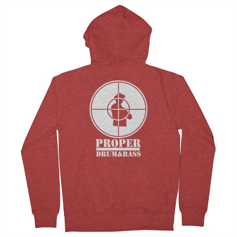 Public Wht Men's French Terry Zip-Up Hoody by Properchicago's Shop