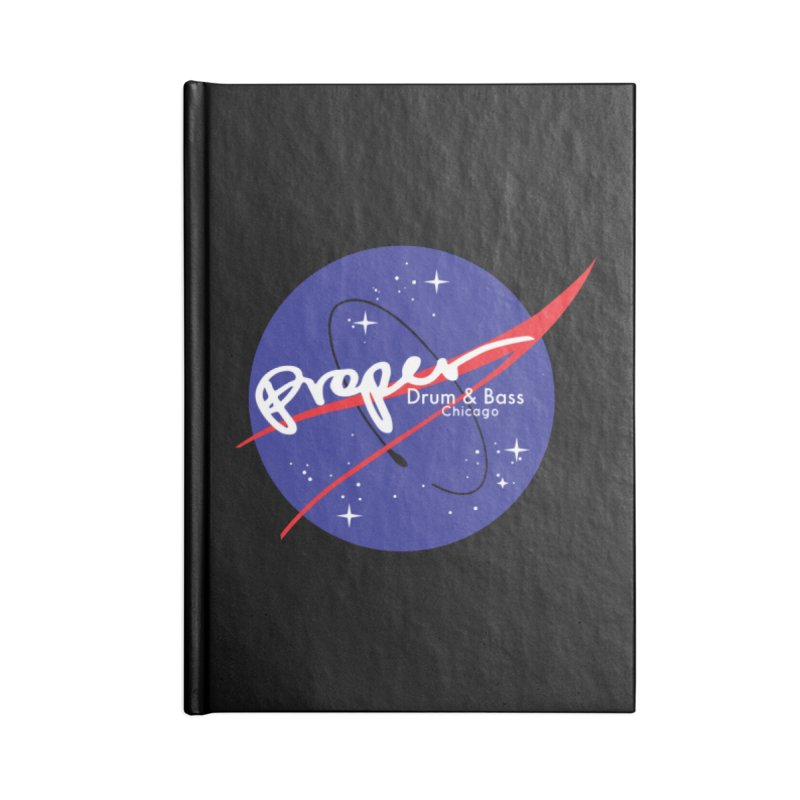 To space and .... Accessories Lined Journal Notebook by Properchicago's Shop