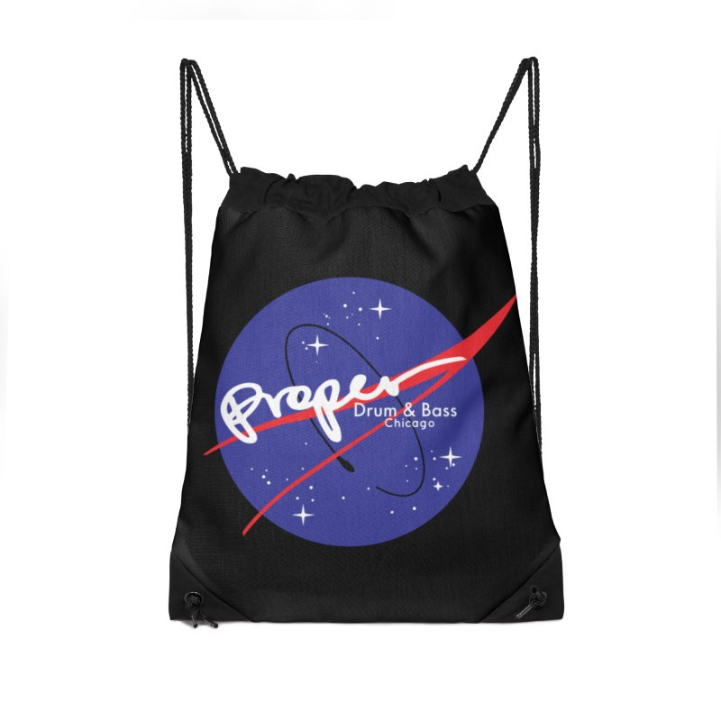 To space and .... Accessories Drawstring Bag Bag by Properchicago's Shop