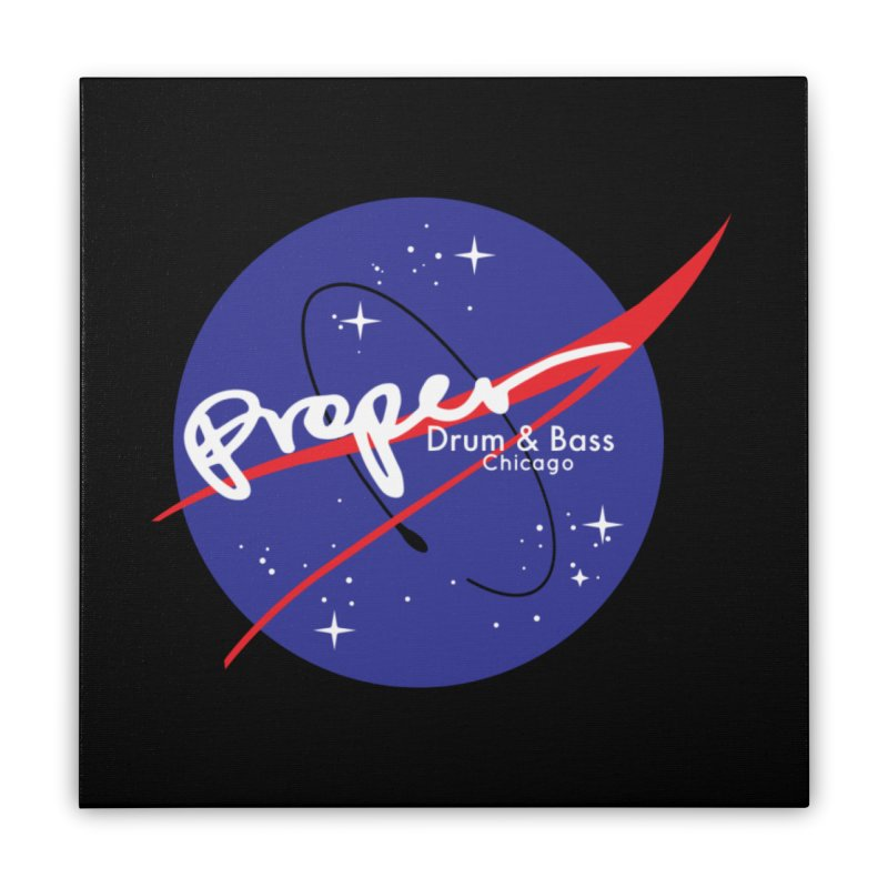 To space and beyond Home Stretched Canvas by Properchicago's Shop