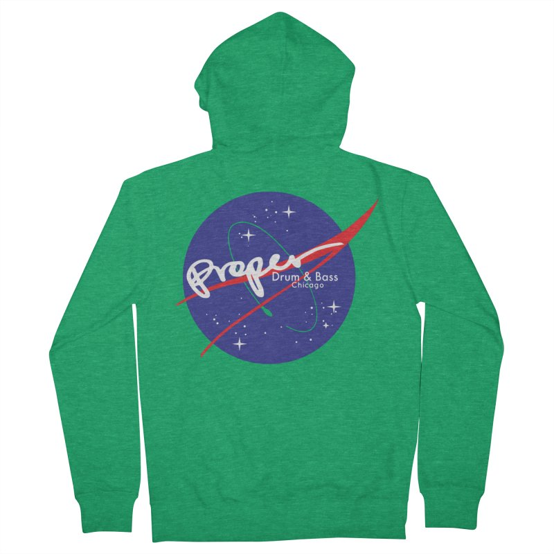 To space and .... Men's Zip-Up Hoody by Properchicago's Shop