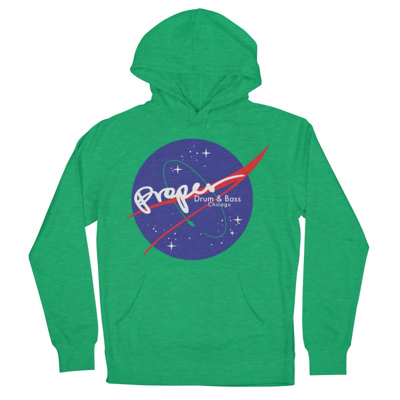 To space and .... Men's French Terry Pullover Hoody by Properchicago's Shop