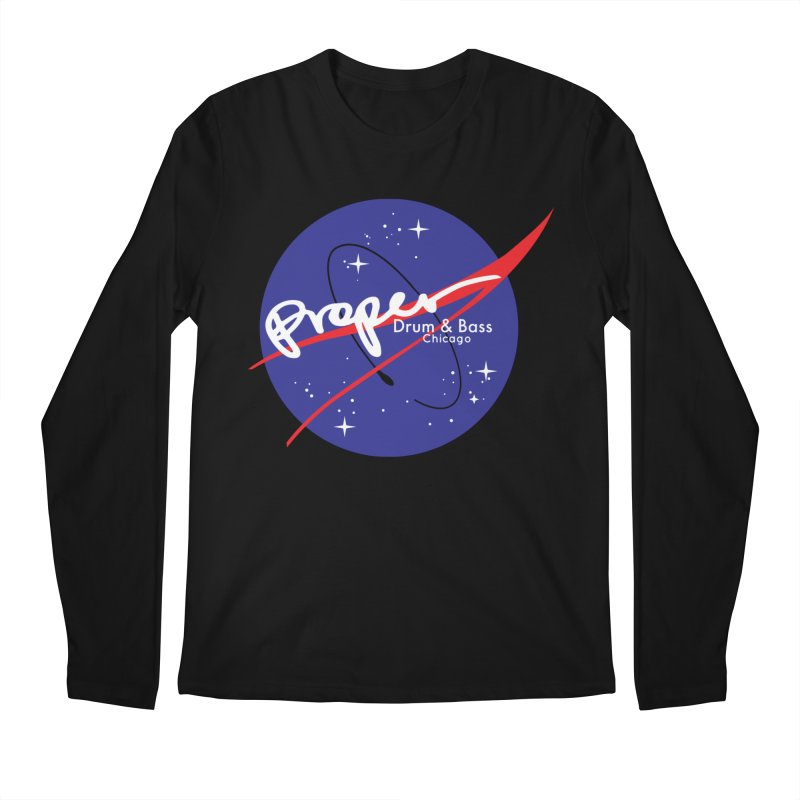 To space and .... Men's Regular Longsleeve T-Shirt by Properchicago's Shop