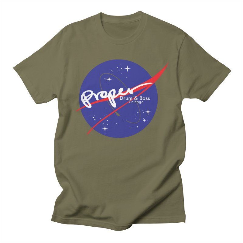 To space and .... Men's Regular T-Shirt by Properchicago's Shop
