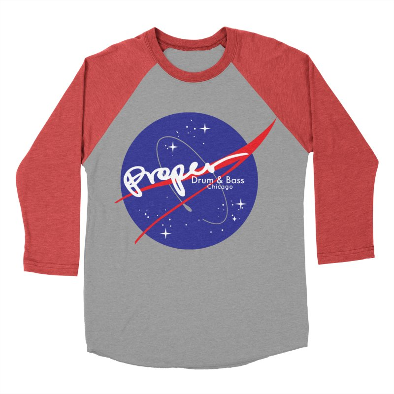 To space and .... Women's Baseball Triblend Longsleeve T-Shirt by Properchicago's Shop