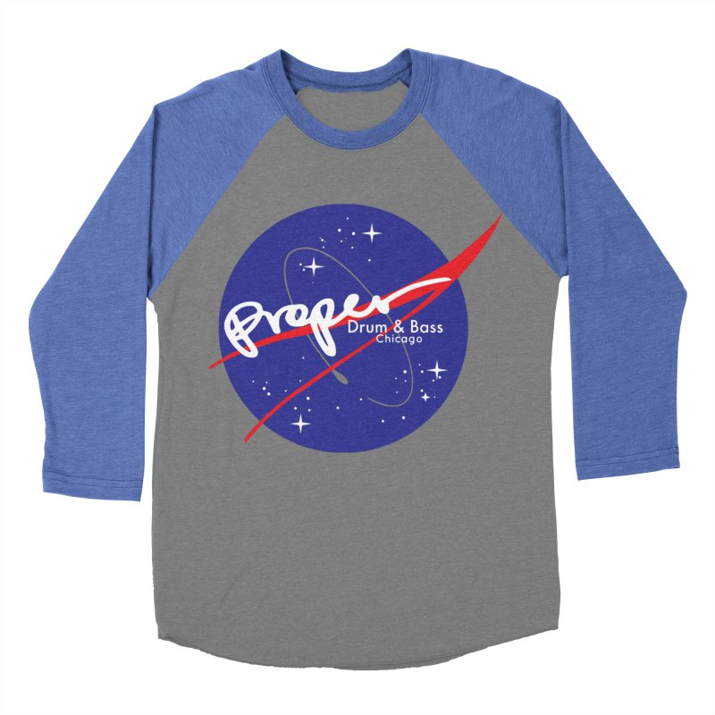 To space and .... Men's Baseball Triblend Longsleeve T-Shirt by Properchicago's Shop
