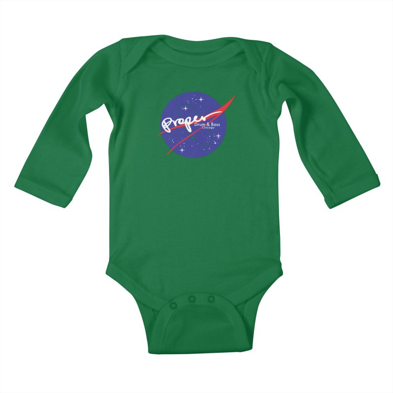To space and .... Kids Baby Longsleeve Bodysuit by Properchicago's Shop