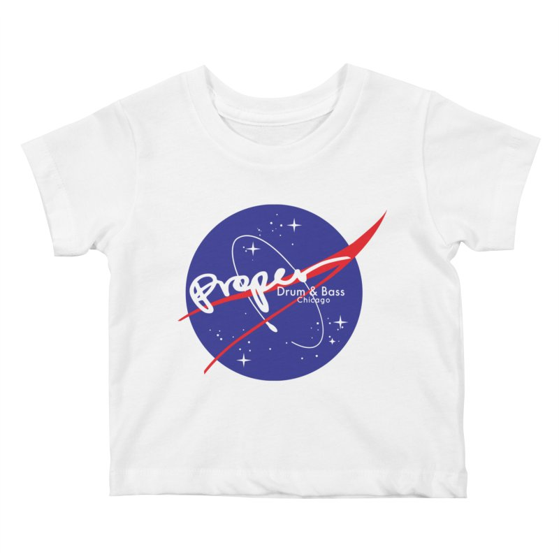 To space and .... Kids Baby T-Shirt by Properchicago's Shop