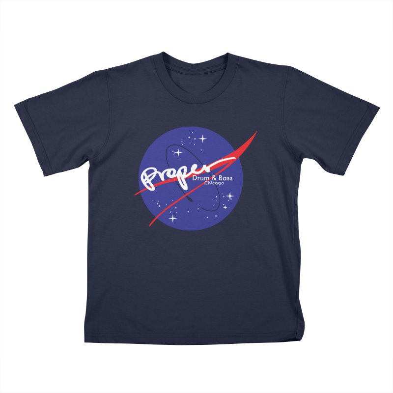 To space and beyond Kids T-Shirt by Properchicago's Shop