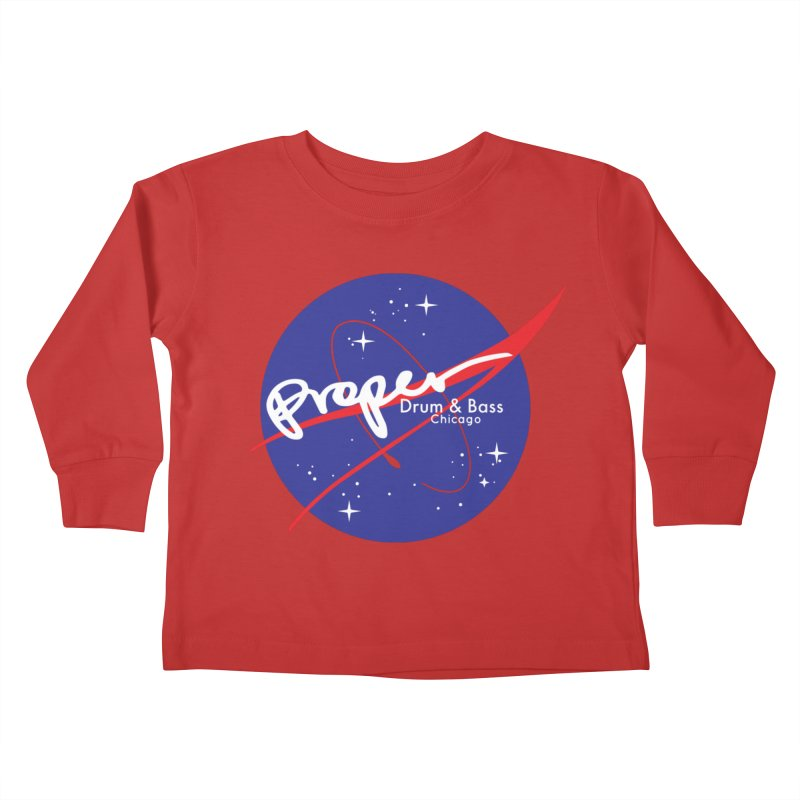To space and .... Kids Toddler Longsleeve T-Shirt by Properchicago's Shop