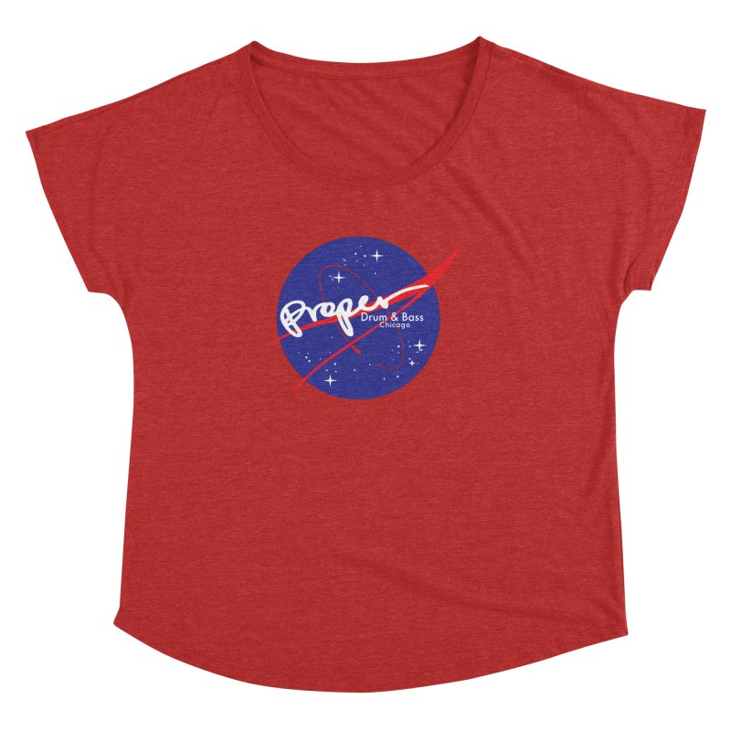 To space and .... Women's Dolman Scoop Neck by Properchicago's Shop
