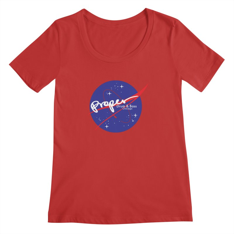 To space and .... Women's Regular Scoop Neck by Properchicago's Shop