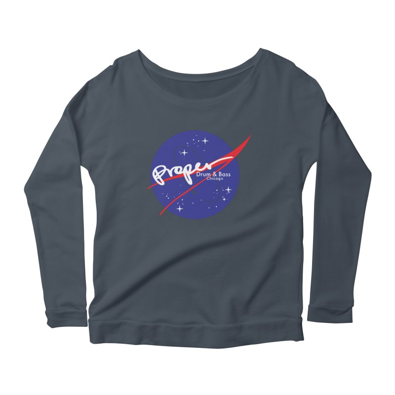To space and .... Women's Scoop Neck Longsleeve T-Shirt by Properchicago's Shop