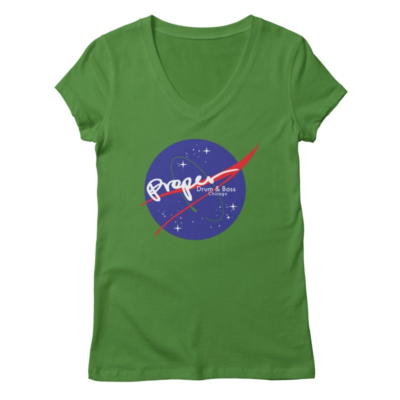 To space and .... Women's Regular V-Neck by Properchicago's Shop