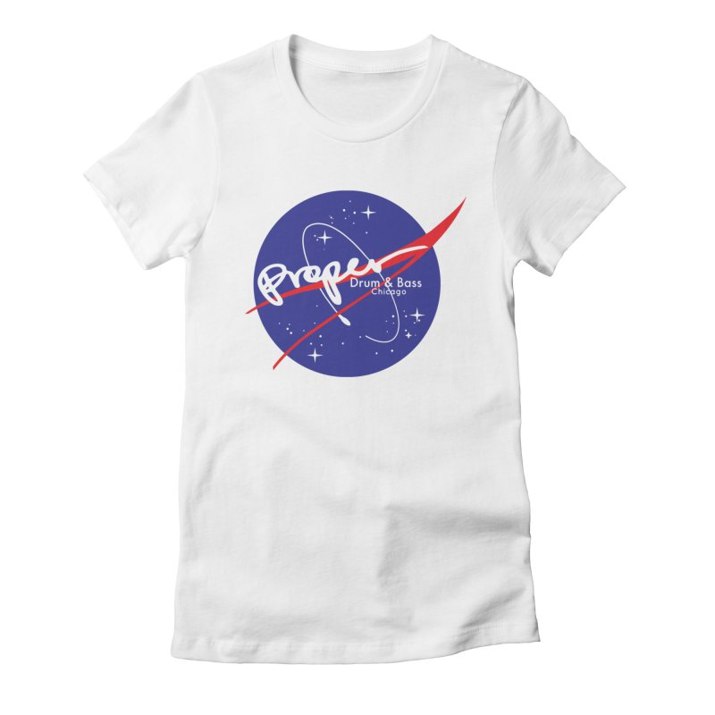 To space and .... Women's Fitted T-Shirt by Properchicago's Shop