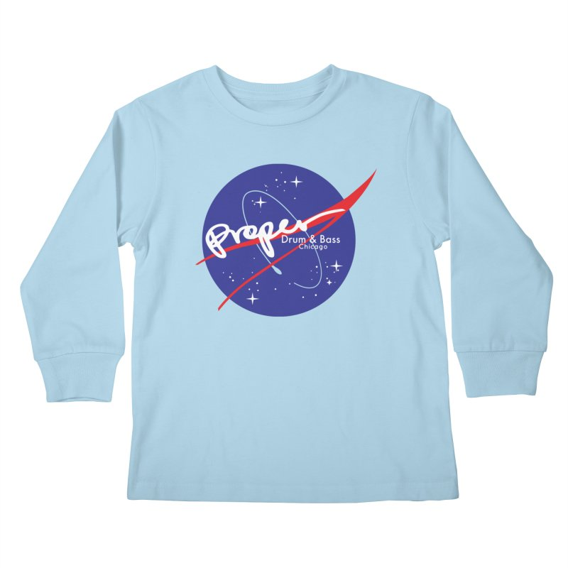 To space and .... Kids Longsleeve T-Shirt by Properchicago's Shop