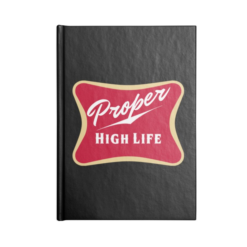 The High Life Accessories Blank Journal Notebook by Properchicago's Shop