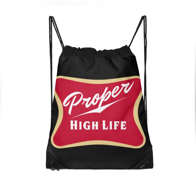 The High Life Accessories Drawstring Bag Bag by Properchicago's Shop