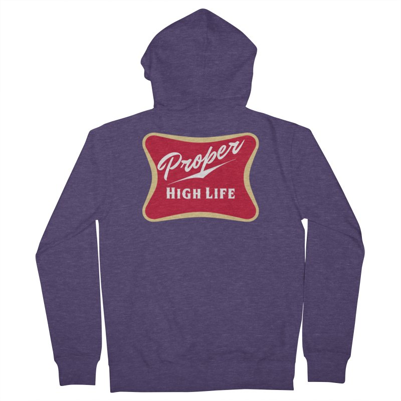 The High Life Men's French Terry Zip-Up Hoody by Properchicago's Shop