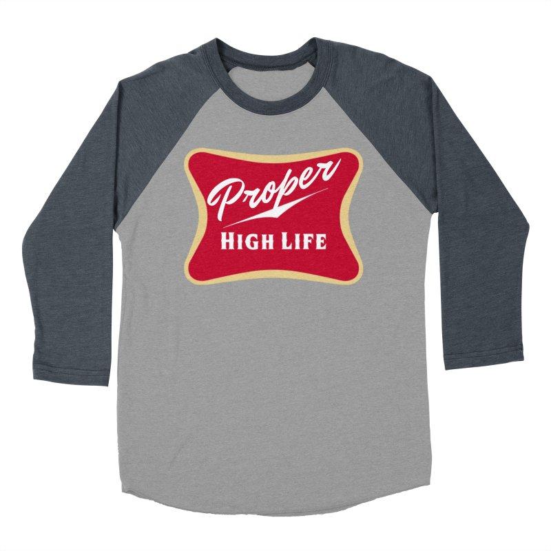 The High Life Women's Baseball Triblend Longsleeve T-Shirt by Properchicago's Shop