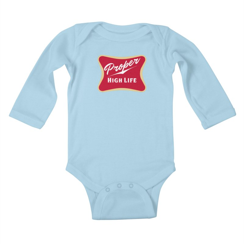 The High Life Kids Baby Longsleeve Bodysuit by Properchicago's Shop