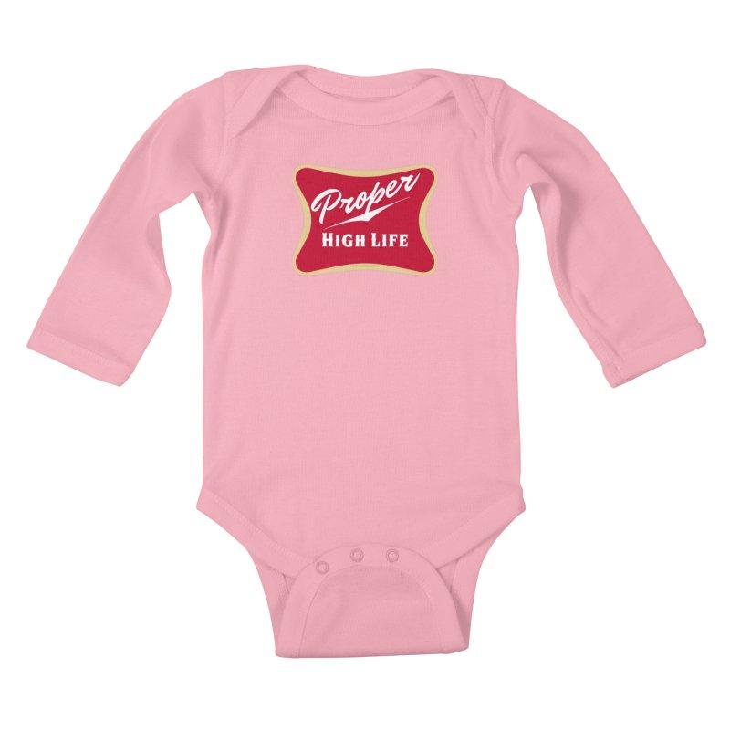 The High Life Kids Baby Longsleeve Bodysuit by Properchicago's Shop
