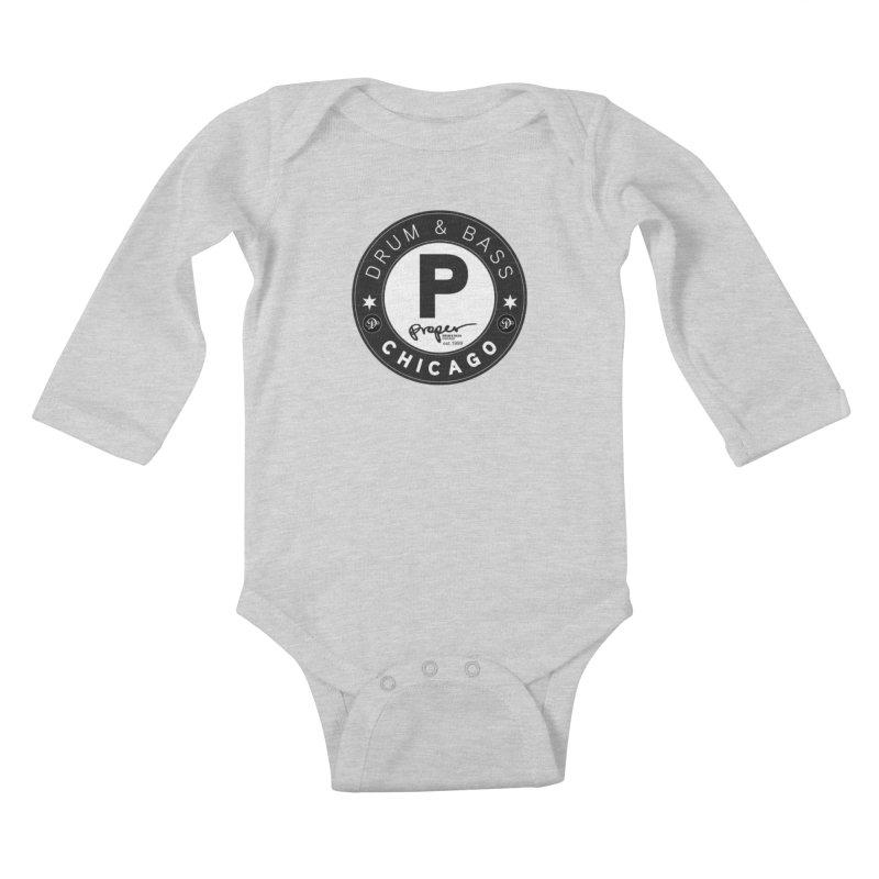 Proper deb logo 1999 Kids Baby Longsleeve Bodysuit by Properchicago's Shop