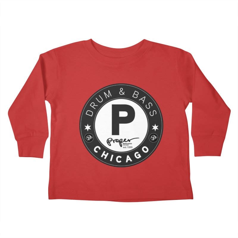 Proper deb logo 1999 Kids Toddler Longsleeve T-Shirt by Properchicago's Shop