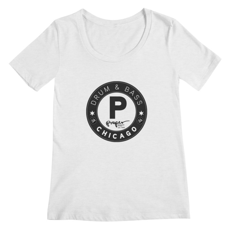 Proper deb logo 1999 Women's Regular Scoop Neck by Properchicago's Shop