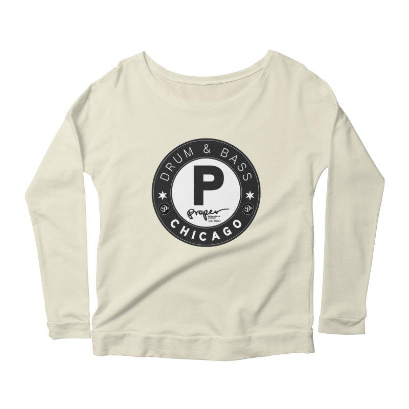 Proper deb logo 1999 Women's Scoop Neck Longsleeve T-Shirt by Properchicago's Shop