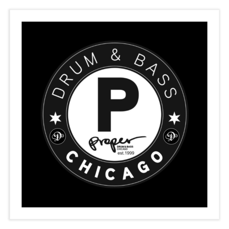 Proper deb logo 1999 Home Fine Art Print by Properchicago's Shop