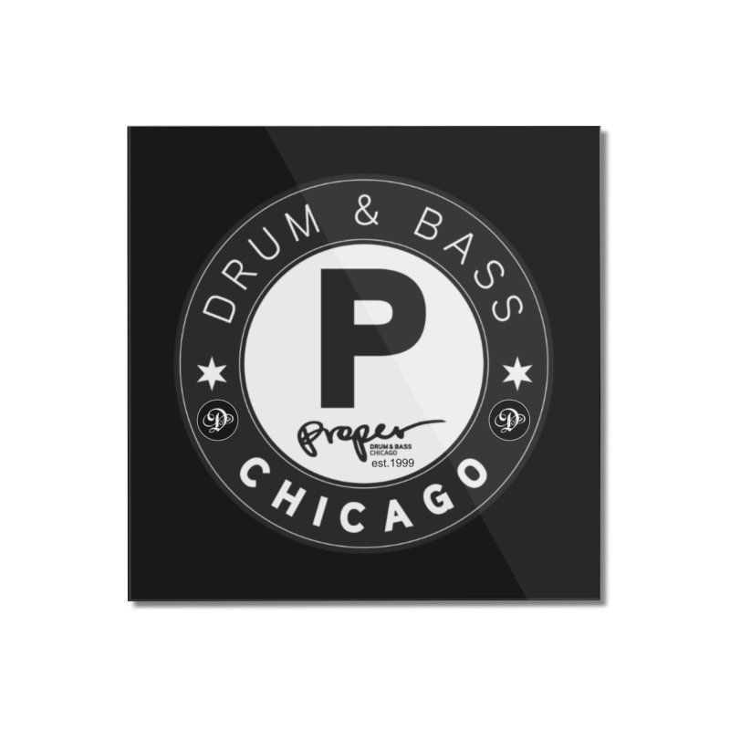Proper deb logo 1999 Home Mounted Acrylic Print by Properchicago's Shop
