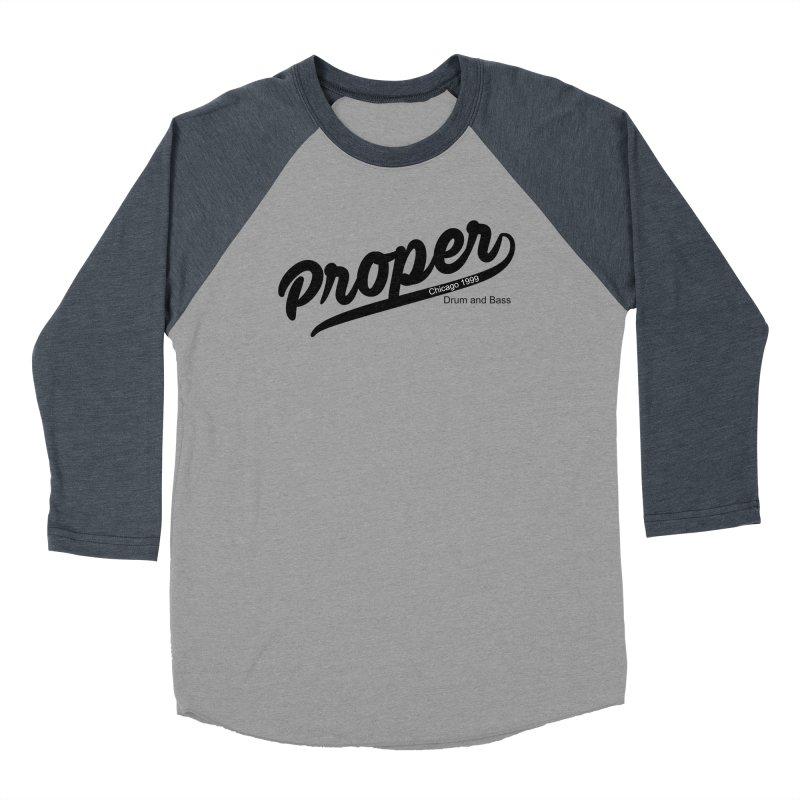 Proper sport Men's Baseball Triblend Longsleeve T-Shirt by Properchicago's Shop