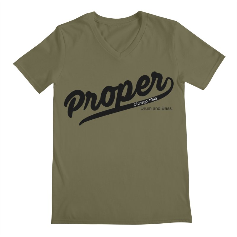 Proper sport Men's Regular V-Neck by Properchicago's Shop